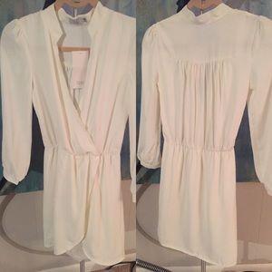 Tobi Long sleeve wrap dress